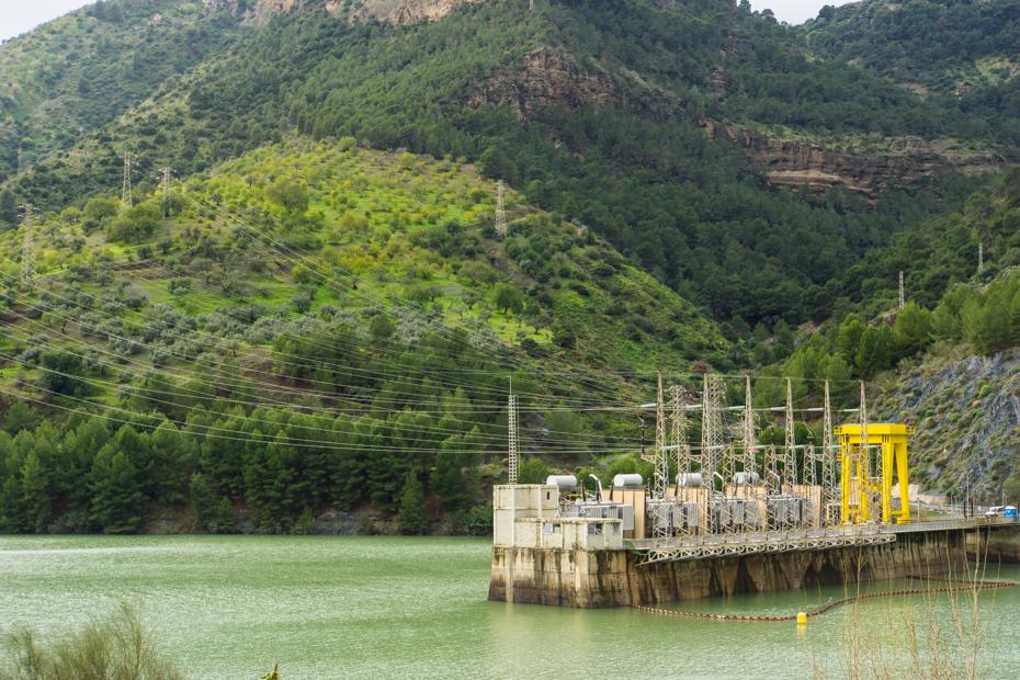 The modern Hydro-electric plant of El Chorro
