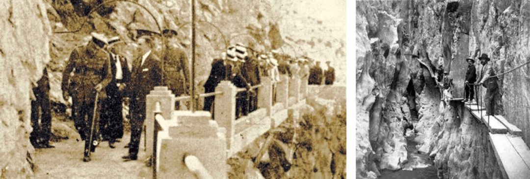 King Alfonso XIII Crossing The Walkway El Chorro