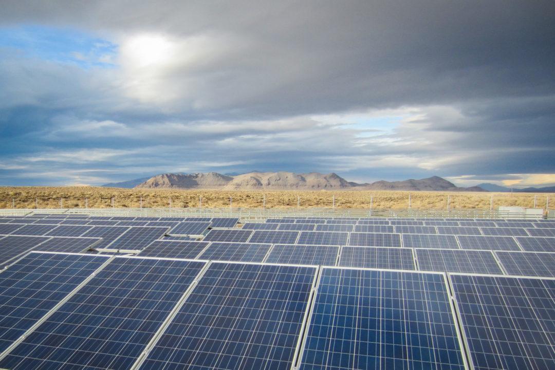 Advanced Energy Solar Panel Field